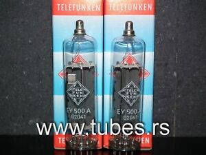 Telefunken EY500A NOS matched pair (6EC4, 6D22S) ADD Philips Code Rectifier