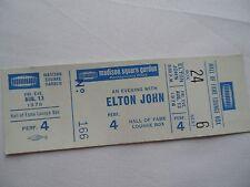 ELTON JOHN Original Unused 1976 CONCERT TICKET - Madison Square Garden, NYC
