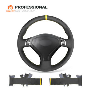 Black Suede Steering Wheel Cover for Subaru Forester Legacy Outback 2005 -2007