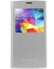 Etui GCase Folio fenêtre active pour Samsung Galaxy S5 argent métalisé