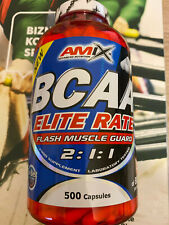 Amix BCAA 2:1:1 Elite Rate Flash Muscle Guard 500 caps 3g BCAA Per Serving