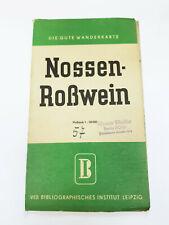 Die Gute Wanderkarte: Nossen - Roßwein (Döbeln, Hainichen, Freiberg), DDR 1954