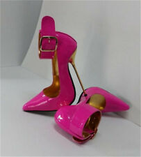 14cm Extreme Heels Stilettos Ankle strap pointed Toe Shoes Club Fetish US 5-16