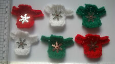 Sale Christmas jumpers front +snowflakes Embellishments card toppers Mini