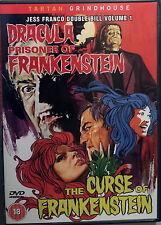 DRACULA PRISONER OF FRANKENSTEIN THE CURSE OF FRANKENSTEIN - Franco 2 DVD OOP