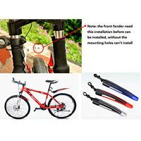 2Pcs MTB Mountain Bike Bicycle Cycling Front Mudguard+Rear Fender Set Mud Guard