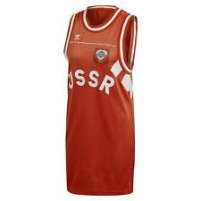 Adidas Robe Femmes Originaux Tank top Long Cccp L XL T Shirt Russie CE2309