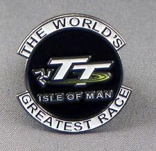Metal Enamel Pin Badge Brooch TT Isle of Man The Worlds Greatest Race Motorbike
