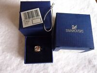 GORGEOUS GENUINE SWAROVSKI TEMPO CRYSTAL PYRAMID RING SIZE 50 NIB