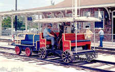 Gold Coast Railway #838 World's smallest standard gauge steamer postcard