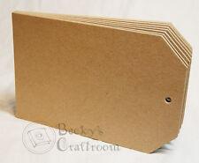 "5.5""x8.5"" Chipboard Tag Album unbound 8pages sturdy heavyweight chipboard"