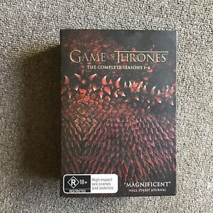 Game of Thrones The Complete Seasons 1-4 DVD Box Set #940
