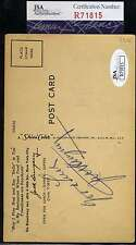 Jack Dempsey Jsa Coa Hand Signed  Postcard Authentic Autograph