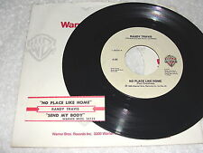 "Randy Travis ""No Place Like Home / Send My Body"" 45 RPM,7"" Single,+Jukebox Strip"