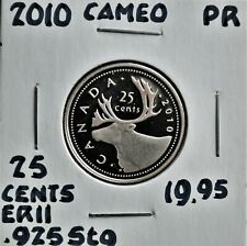 2010 Canada 25 Cents Sterling Silver Proof Strike