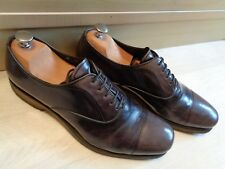 Prada patent grey cap toe oxford UK 8 42 mens pointed toe lace up *Crepe sole