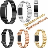 Durable Stainless Steel Watch Band Bracelet Strap For Fitbit Charge 2 / 2 HR