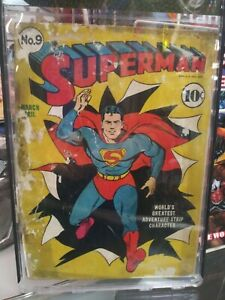 Superman #9 low grade Joe Shuster art. Fred Ray cover  DC 1941