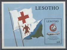 CROIX ROUGE SANTÉ Lésotho 1 bloc de 1988 ** - RED CROSS ROTES KREUZ