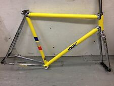 Look AC 364 Yellow/Chrome Track Fixie Single Speed Road Bike Frame L. New