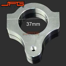 37mm Billet Silver Steering Damper Stabilizer Bracket Fork Tube Clamp Motorcycle