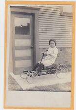 Real Photo Postcard RPPC - Boy Riding Pedal Car