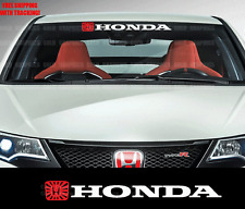 Windshield Banner Decal Sticker For Honda JDM FLAG si civic accord crx jdm 36""