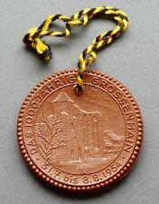 Porzellan Medaille Das 1000-jährige Großenhain Sachsen DDR 1954