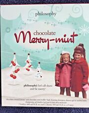 Philosophy (NIB) Chocolate Merry Mint Shampoo, Shower Gel and Bath 2 Bottle set