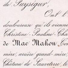 Pauline Mac-Mahon Jules De Resseguier Sauveterre 1868