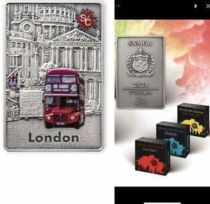 5 Dollar Samoa 2021 AF - 2 OZ Splash of Colours - London 2021