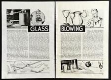 Glass Blowing 1937 How-To INFO Basic Techniques methods