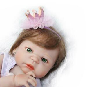23'' Handmade Full Body Soft Silicone Reborn Doll Lifelike Baby Girl Xmas Gift