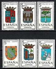 Espagne 1965 Yvert n° 1296 à 1301 armoiries de province neuf ** 1er choix