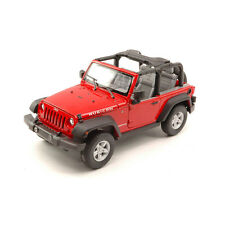 Welly 22489 Jeep Wrangler Rubicon red 2007 open Maßstab 1:24 Model car NEW!°