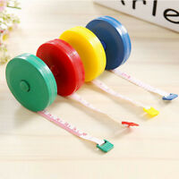 """2Pcs Retractable Body Measuring Ruler Sewing Cloth Tailor Tape Measure Soft 60"""""""