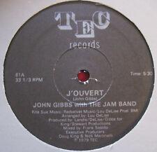 "JOHN GIBBS W/ JAM BAND ~ J'OUVERT (1979) TEC RARE PRIVATE DISCO DRUM BREAKS 12"""
