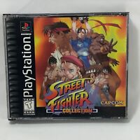Street Fighter Collection Black Capcom Sony PlayStation 1 PS1 US NTSC Complete