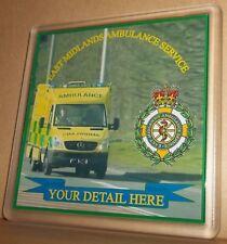 East Midlands Ambulance Service  coasters (pack of 4) free postage.