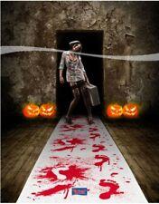 Gruselteppich mit blutigen Fussspuren Party Deko Halloween Karneval