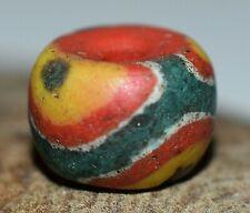 Antique Rare Kiffa Powder Glass Work On European Bead Mauritania, African Trade