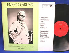 LP ENRICO CARUSO-Same/Historical Recording GERMAN RED RCA-Victor
