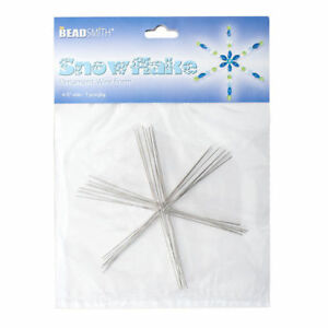 """Beadsmith 4.5"""" Wire Snowflake Bead Forms 0.8mm 7 Frames"""