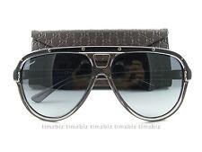 New Gucci Sunglasses GG 3720/S HXTHD Gray Black Aviator Authentic