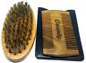 Greenity Natural Green SandalWood Wooden Beard Comb & Natural Bamboo Beard Brush