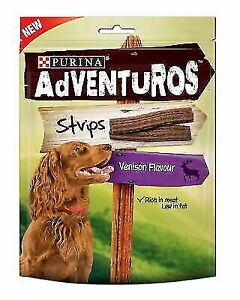 Purina Adventuros Strips with Venison Flavour 90G x 3 Packs
