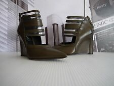 $845 Gorgeous Derek Lam Meryl Leather Wedge Ankle Booties US 7