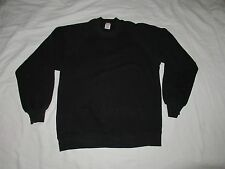 vtg Black Sweat Shirt Sweatshirt Basics by Russell Made in Usa Nice Wear Large