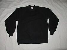 vtg Black Sweat Shirt Sweatshirt Basics by Russell Made in Usa Nice Wear Large