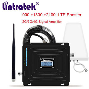 Tri Band Repeater 900/1800/2100 Cellular Signal Booster LTE 4G 10m cable B1/B3